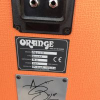 Andy Dunlop signature orange speaker box