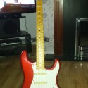 candy red fender stratocaster, 1993 MN3, very good condition, contact simon on 07481962118