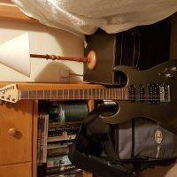 Washburn X series guitar, Crybaby Wah Wah, Rat distortion pedal, Boss tuning pedal