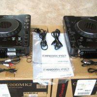 2x PIONEER CDJ-1000MK3 & 1x DJM-800 MIXER Pioneer HDJ-1000 DJ Headphones cos 1,500
