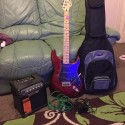 Westfield electric guitar with micro spider amp