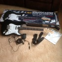 Immaculate real Fender Squier Stratocaster electric guitar for Rock Bank 3